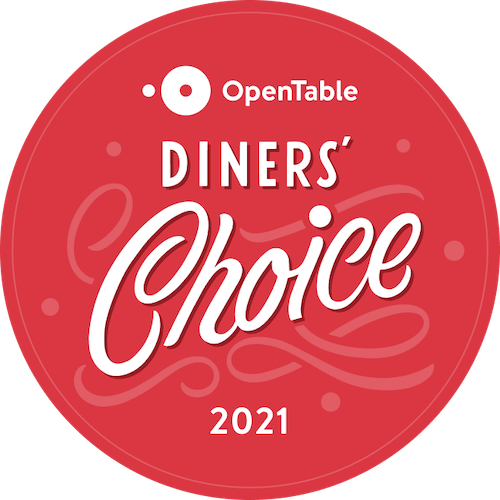 OpenTable Diners choice award 2021